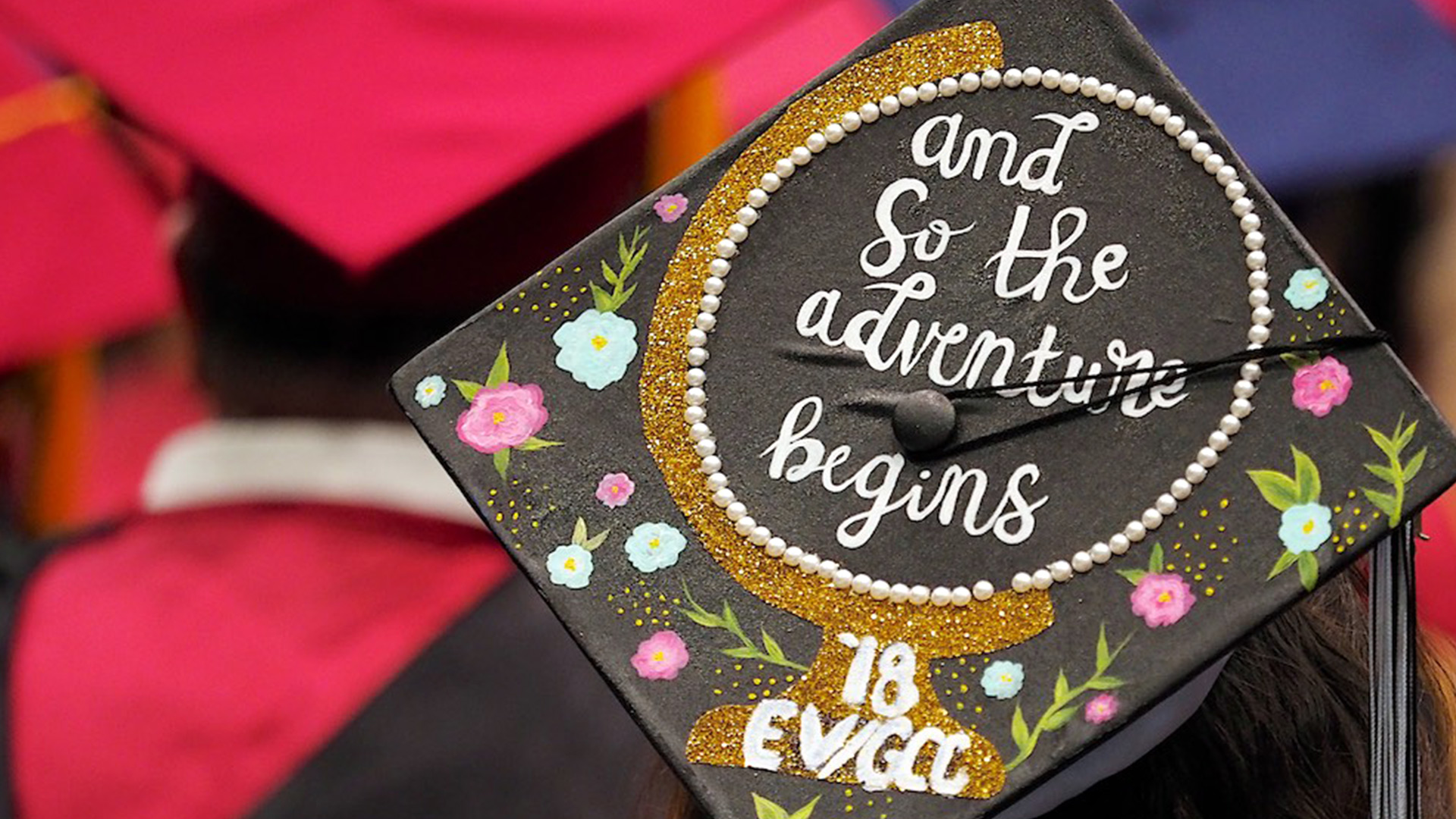 and so the adventure begins graduation cap
